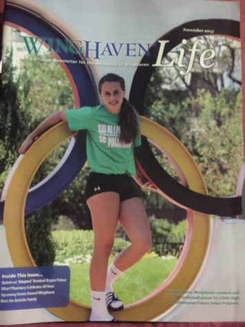 Quinn was featured on the Wing Haven Life magazine when she was eleven