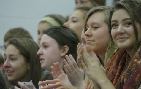 Students and staff watched the Make a Wish Foundation grant two wishes to Liberty students at a surprise assembly Thursday, Oct. 27.
