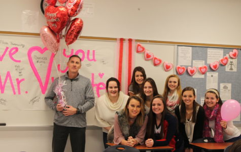 Mr. Webster's AP government students decorated his room for Valentine's day.