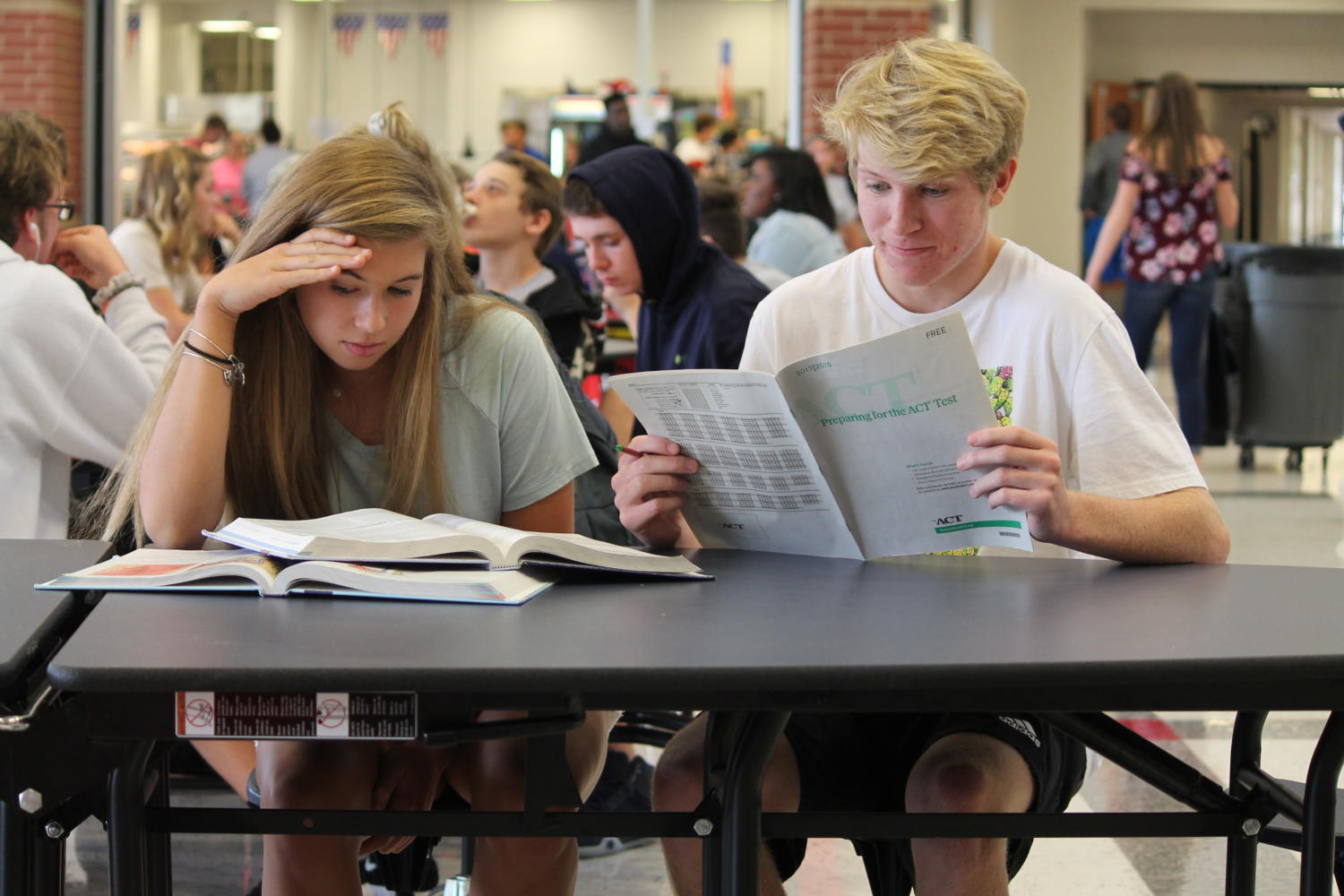 Juniors Alivia Girard and Tristin Sieving are two of 352 Liberty juniors affected by the sudden withdrawl of the free ACT service to Missouri juniors.