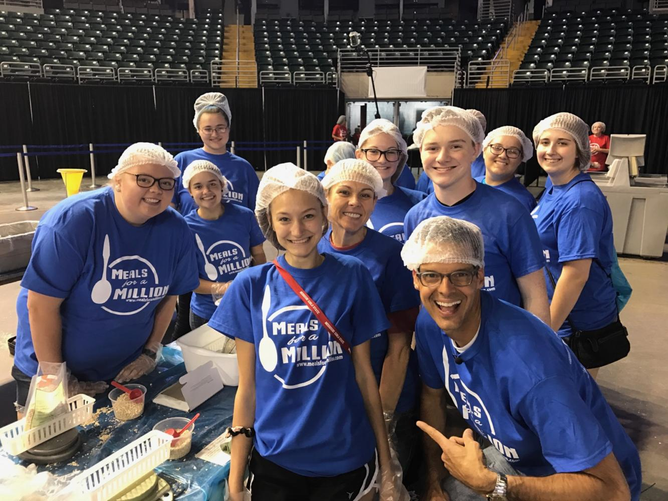 Key Club at Meals for a Million where Tim Ezell from Fox 2 News filmed Key Club hard at work.  Key Club will be on Fox 2 News' The Thread on Saturday, Sept. 16 at 8:30 a.m.