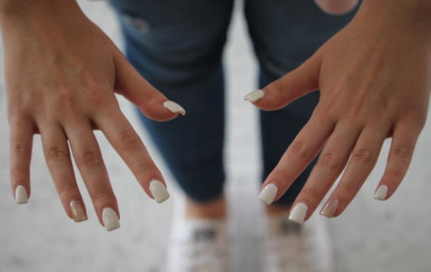 Sparkly nails are trending in today's society. Here are some designs from girls here at Liberty