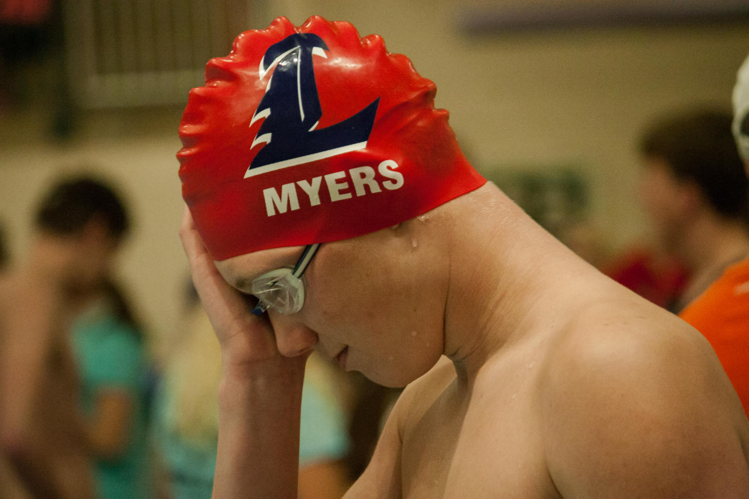 Junior Zach Myers competes in the 200 freestyle relay, 400 freestyle relay, 200 medley relay and the 100 backstroke. He was one of the Liberty swimmers who made it to state.