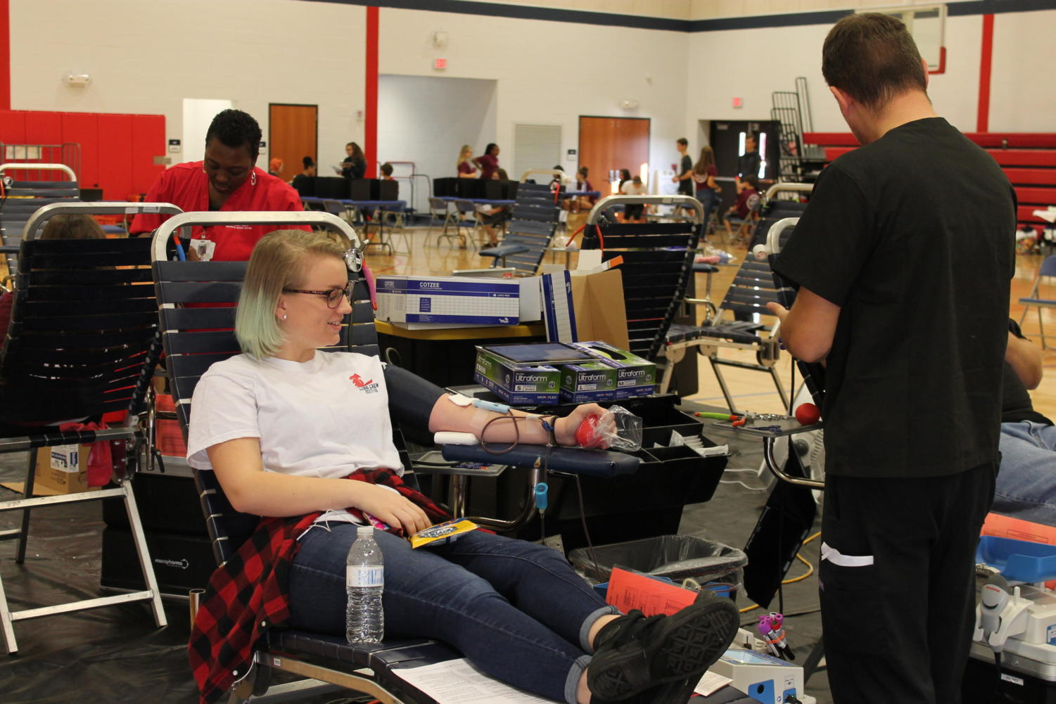 On November 3rd, 80 people were able to donate blood, each person saving up to three lives.