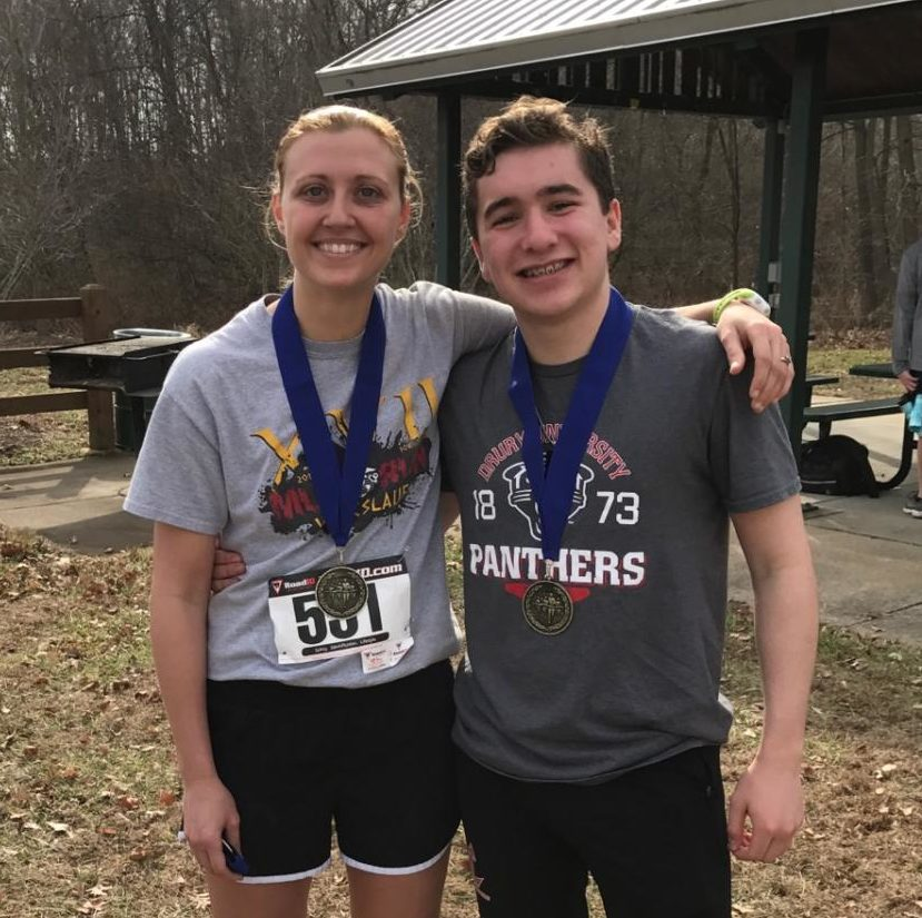 Laura  Glavin and Gabe Rompel were last year's winners of the 5 mile race.