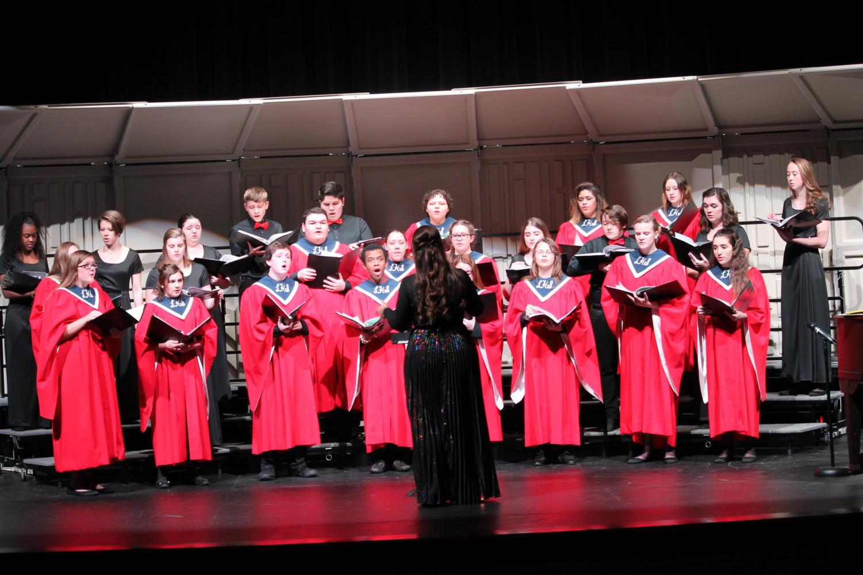 Choir performs at their annual winter concert.