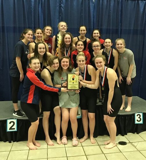 The girls swim and dive team won their third consecutive GAC conference championship on Feb. 7.