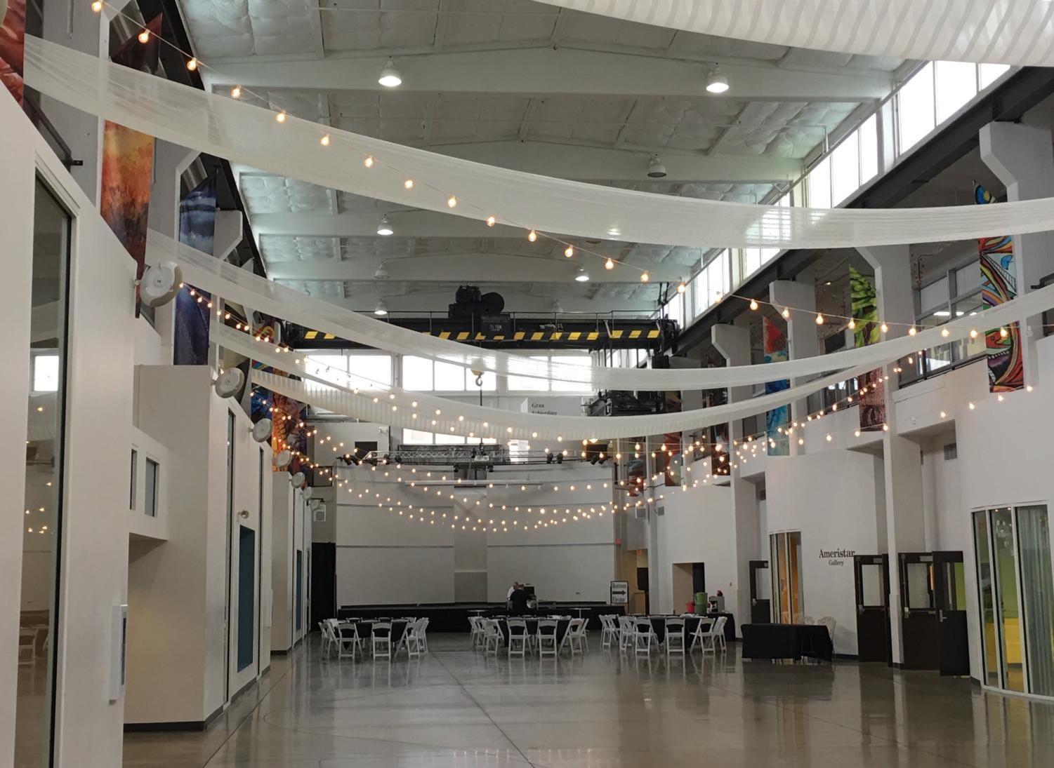 The space in the Foundry Art Centre where prom will be held, called the Grand Hall.