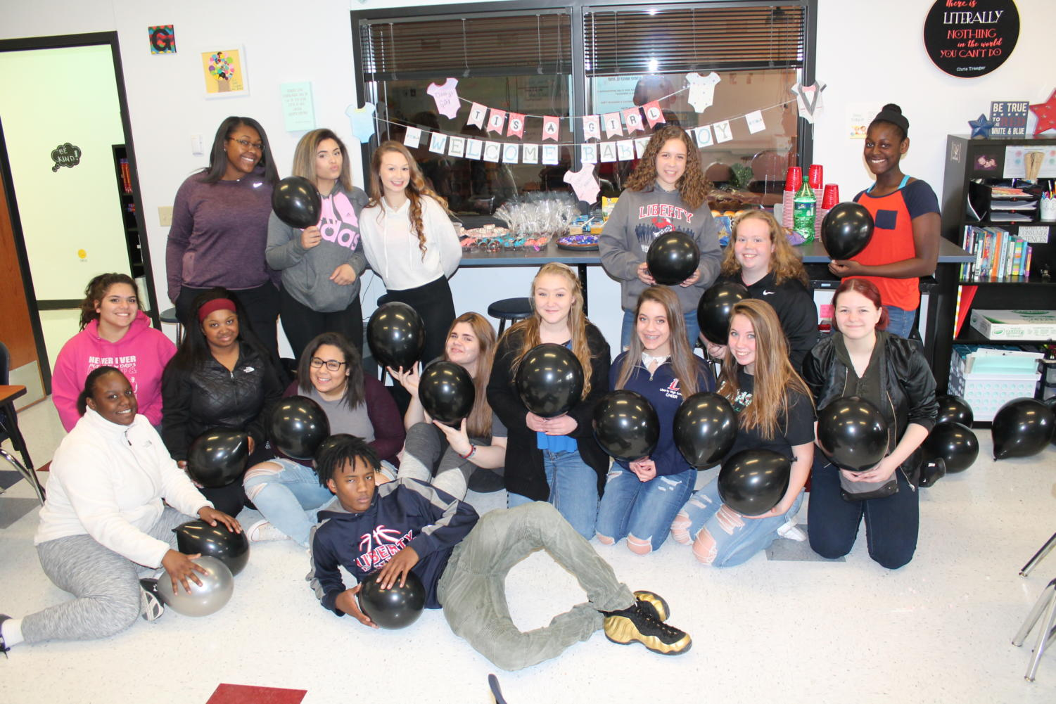 The seventh hour child development I class put on their much-anticipated baby shower.