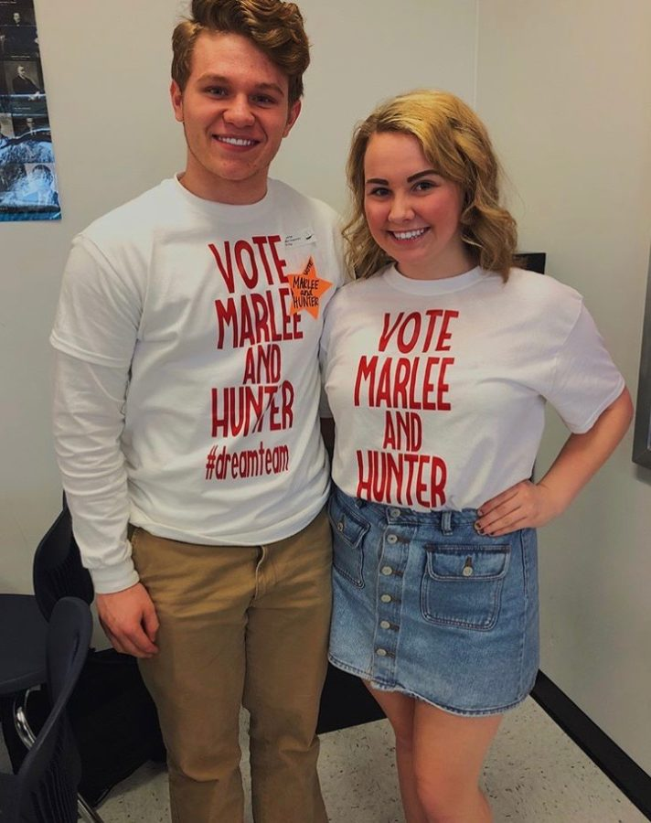 Marlee+Doniff+and+Hunter+Perkins+won+the+StuCo+election.+The+election+was+held+on+Friday+the+13th.+Voting+took+place+during+lunch.+