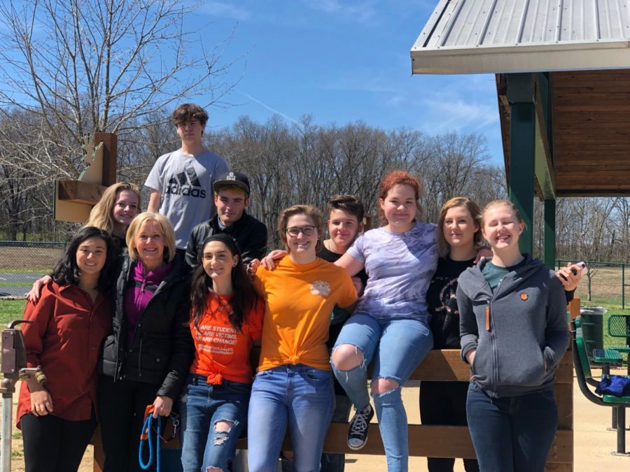 Students who were able to walkout went to Broemmelsiek Park to protest with other gun control activists.