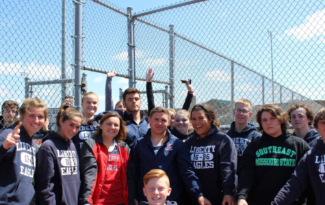 Liberty throwers at the all-throwers meet at Timberland.