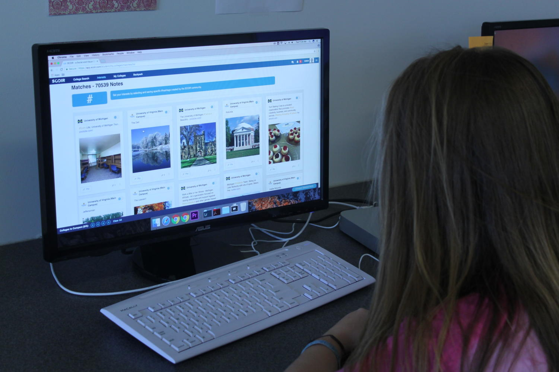 Junior Emma Hankins utilizes SCOIR to check out campus culture.