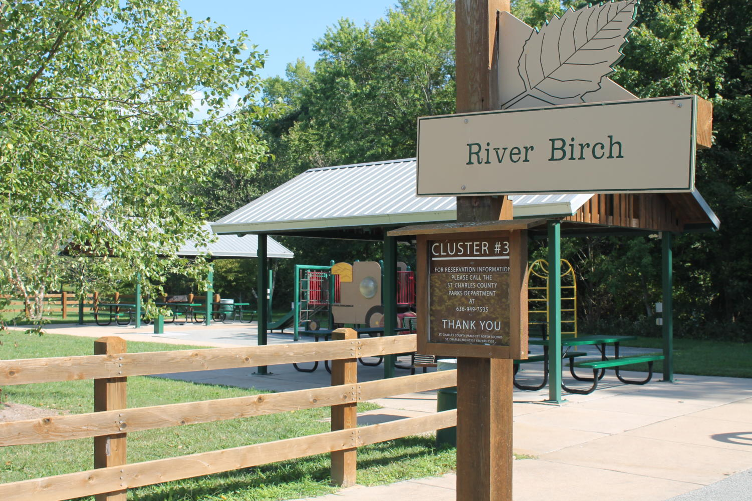 The River Birch trail head is one of the most popular trail heads in the park.