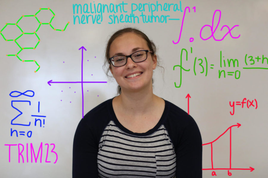 Senior+Emily+Ristevski+continues+her+heavy+workload+from+the+summer+into+her+senior+year+with+classes+like%3B+AP+Calculus%2C+Biomedical+Innovations%2C+AP+Biology+and+AP+Literature+and+Composition.+