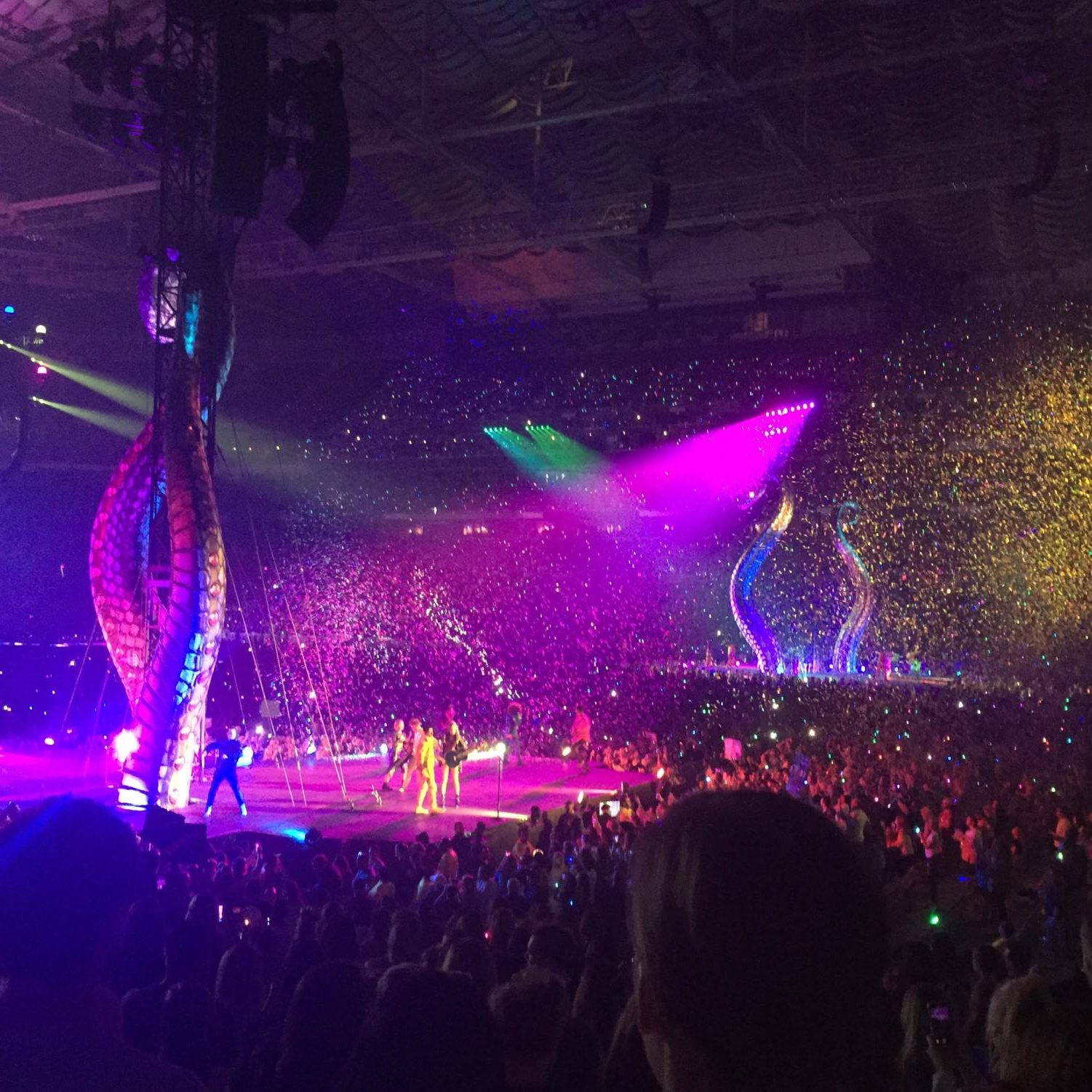 Lizzie Kayser's view of the stage at the Taylor Swift concert.