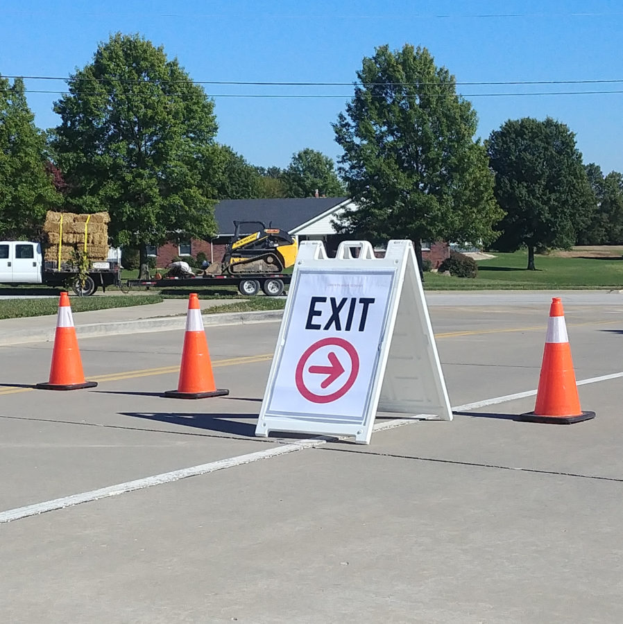 The entrance closest to QT, has been closed during afternoon rush times for the safety of the students and parents driving everyday.