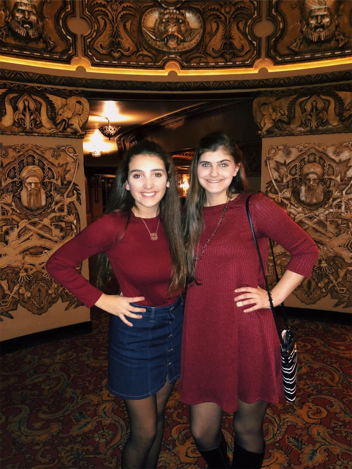 Lola Cadice (me left) and Emily Grant (right) enjoying a night at the Fox Theatre seeing Aladdin.