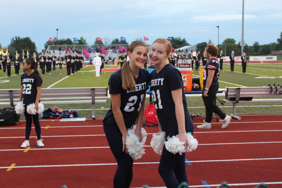 Kylie Bernet and Mya Waldren are apart of the JV Liberty Belles Dance Team in addition to dancing at Fusion Dance Center and for BreakDown STL.