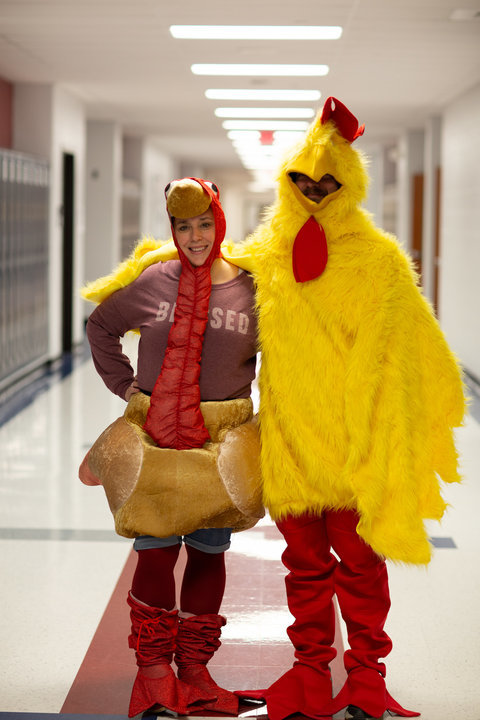 A+total+of+%24446.91+was+raised+in+the+turkey+drive+providing+turkeys+for+the+community.+Mrs.+T.O.+had+the+most+donations+and+wore+the+turkey+costume.+Mr.+Barker+raised+%2421+and+wore+the+chicken+suit.