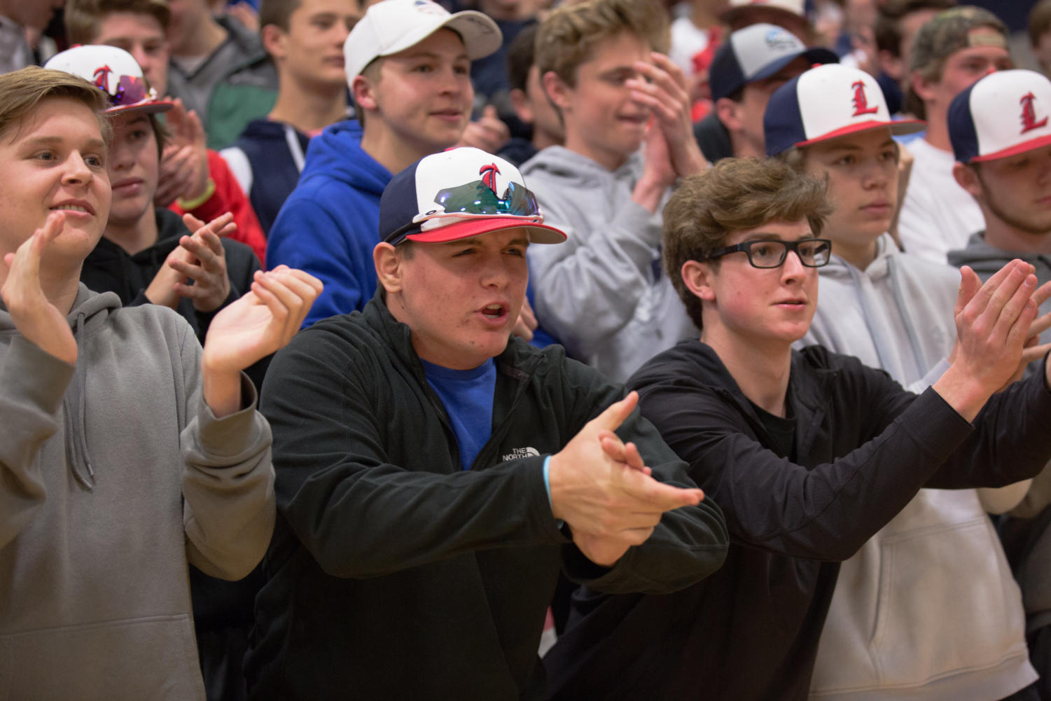 The student section has grown each year to give  more of an edge to Liberty's home court advantage.
