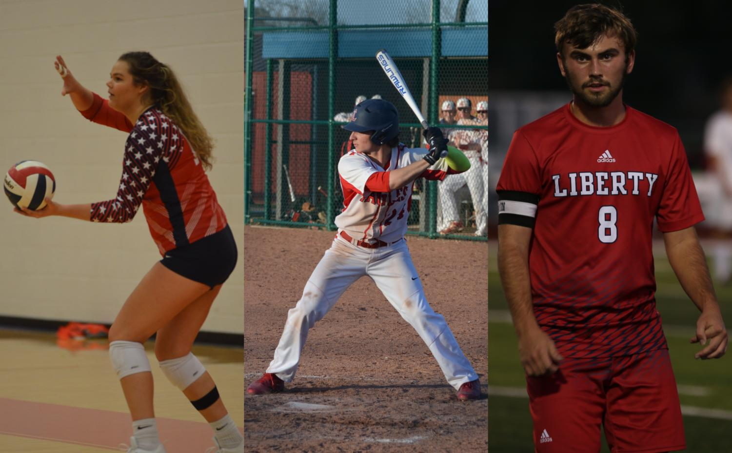 Seniors Emma Riley, Chase Krogman and Jack Kavanaugh are all preparing on becoming a college student-athlete.