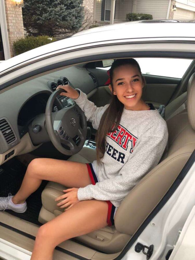Sophomore+Haley+Miller+recently+got+her++driver%27s+license.+New+drivers+are+not+allowed+to+ride+with+more+than+one+friend+in+the+car+with+them.