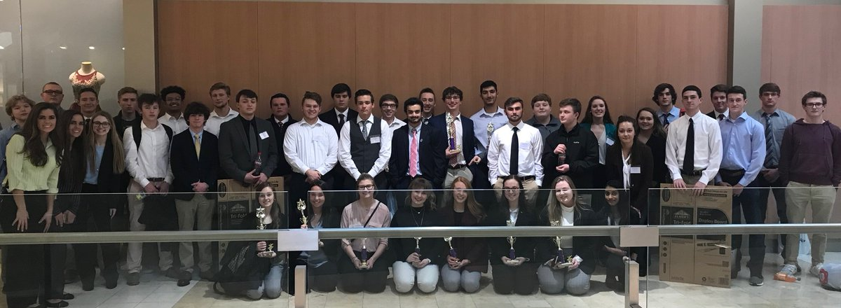 DECA had strong representation at the district competition where 13 participants qualified for the state meet.