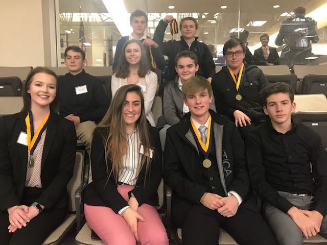 FBLA+members+took+home+multiple+medals+at+the+district+competition.+