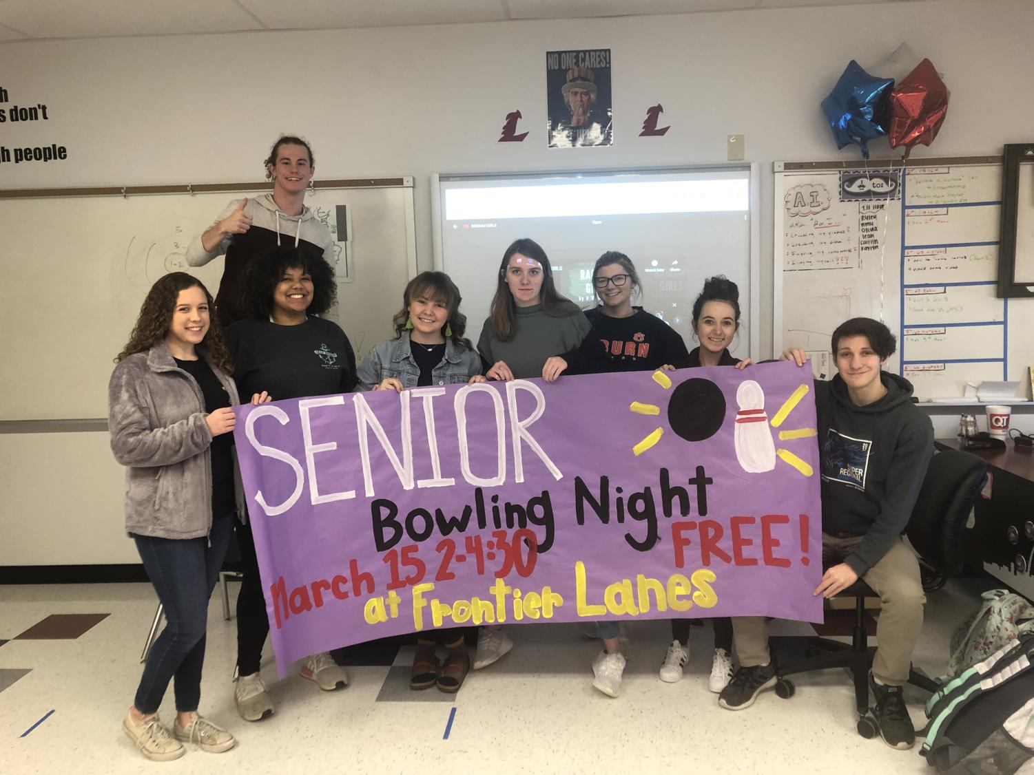 On Friday, March 15, after being released early from school, seniors have the choice to unlimited and free bowling from 2-4:30 p.m. at Frontier Lanes.