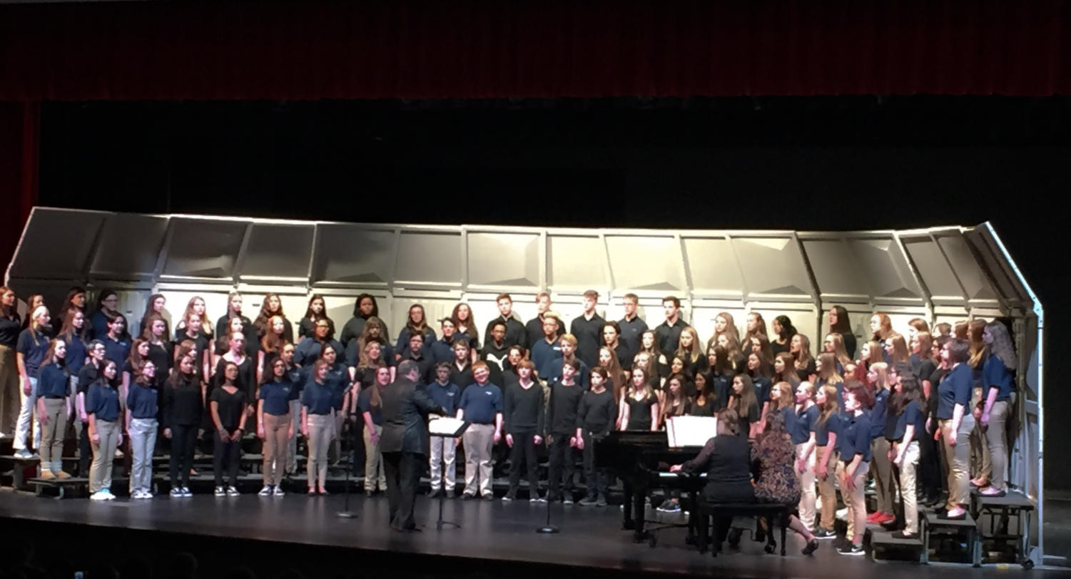 All three Wentzville School District middle schools join together for a night of music.