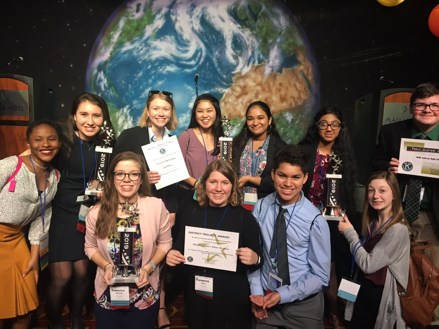 Key Club celebrates its success at the District Leadership Conference March 14-16 in Springfield, Mo.