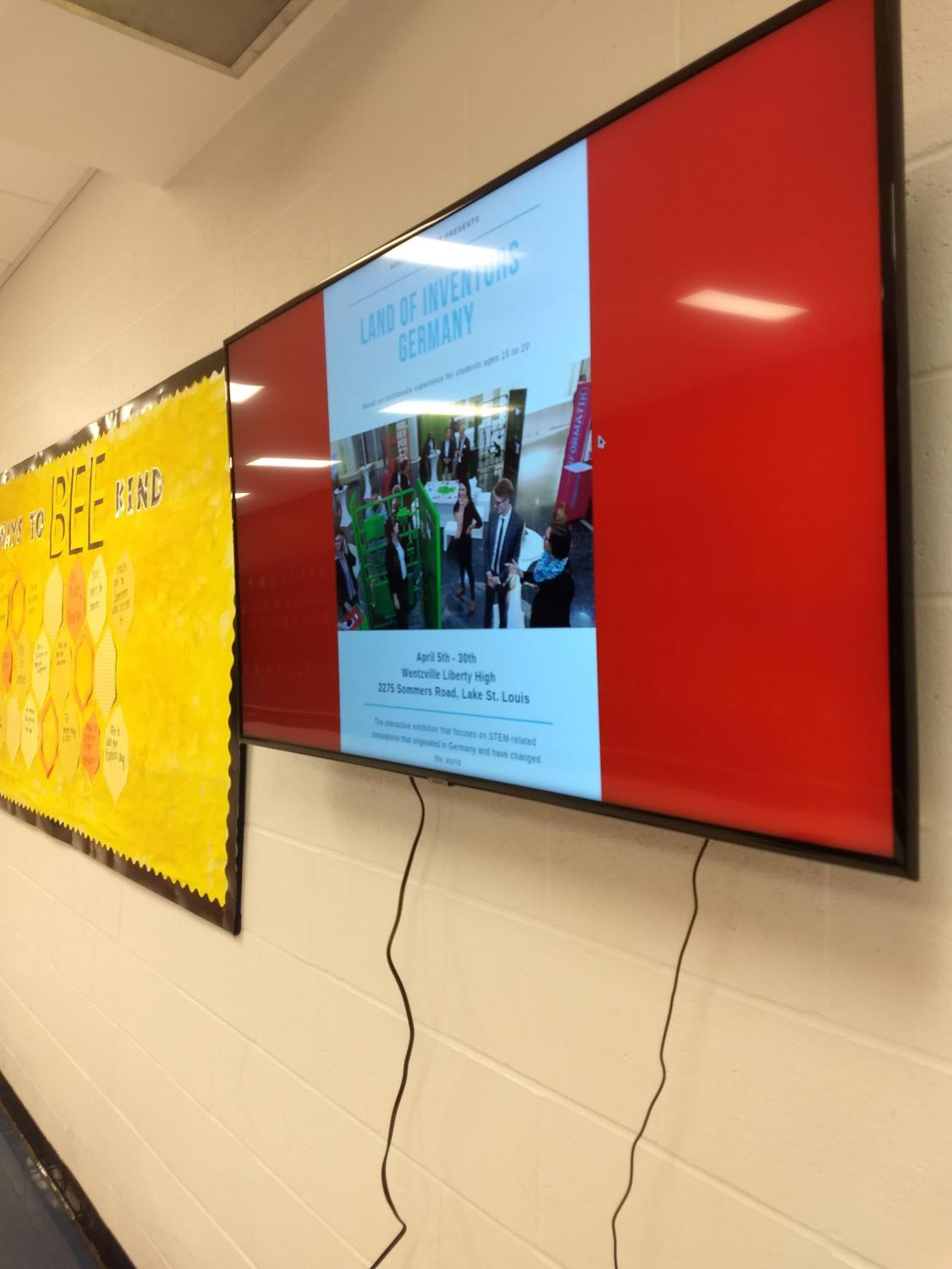 New monitors display daily announcements, photographs and video content.