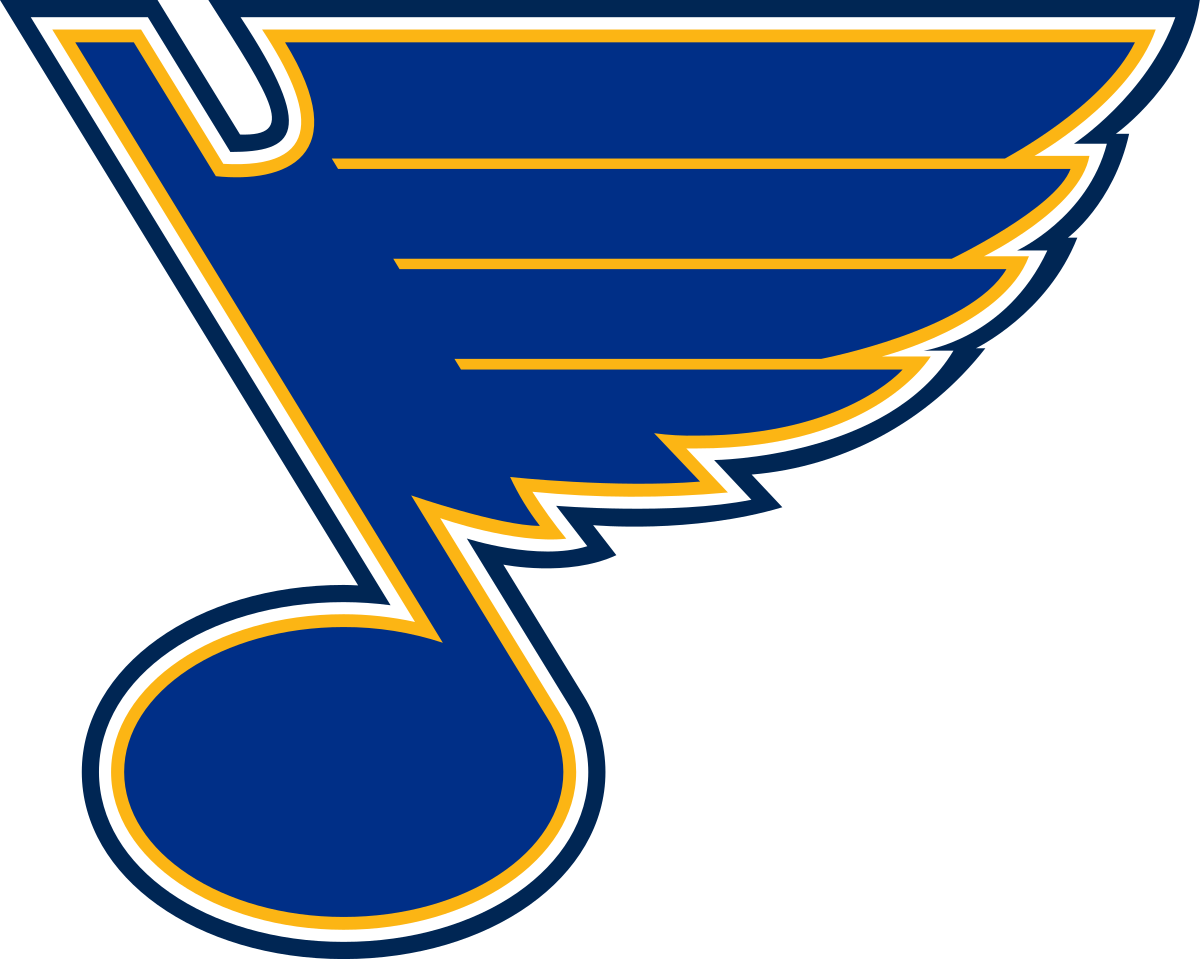 St. Louis Blues logo. The Blues advance to the Western Conference Finals for the first time in 3 years.