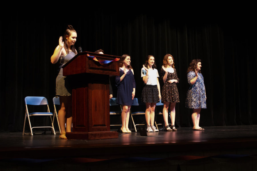 The night of inductions, Gehrke recalls how many seniors became inducted. She recalls how many students find themselves loving theater within their last year of high school.