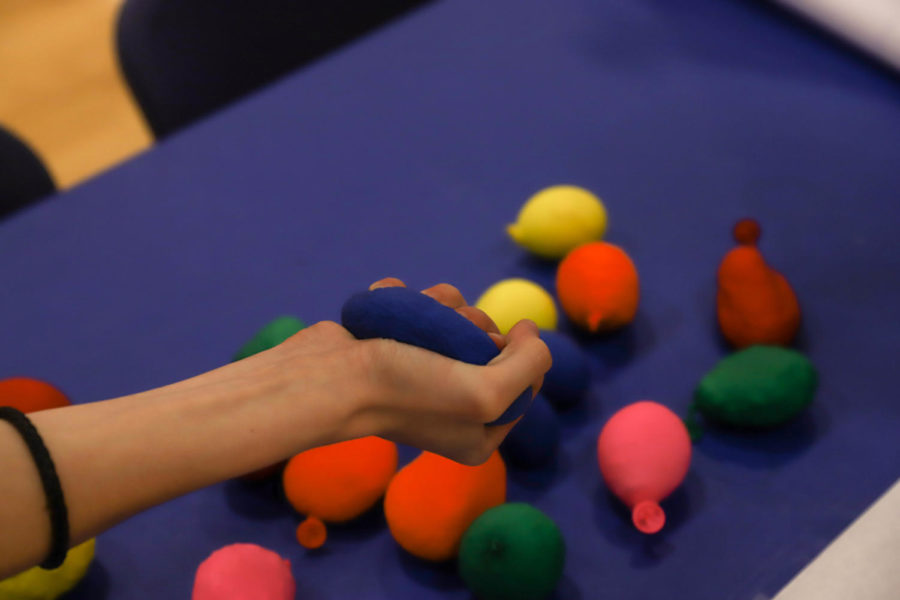 All of Us club created homemade stress balls for their booth.