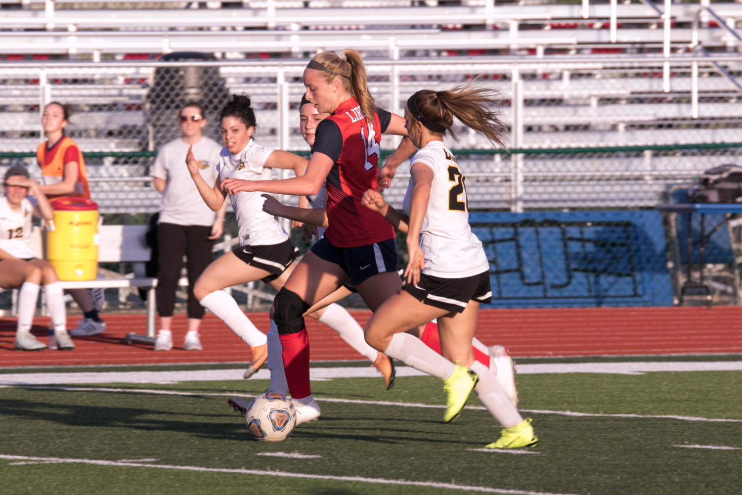 Chloe Netzel (#14) is the highest scorer so far this season, with 24 goals and five assists.