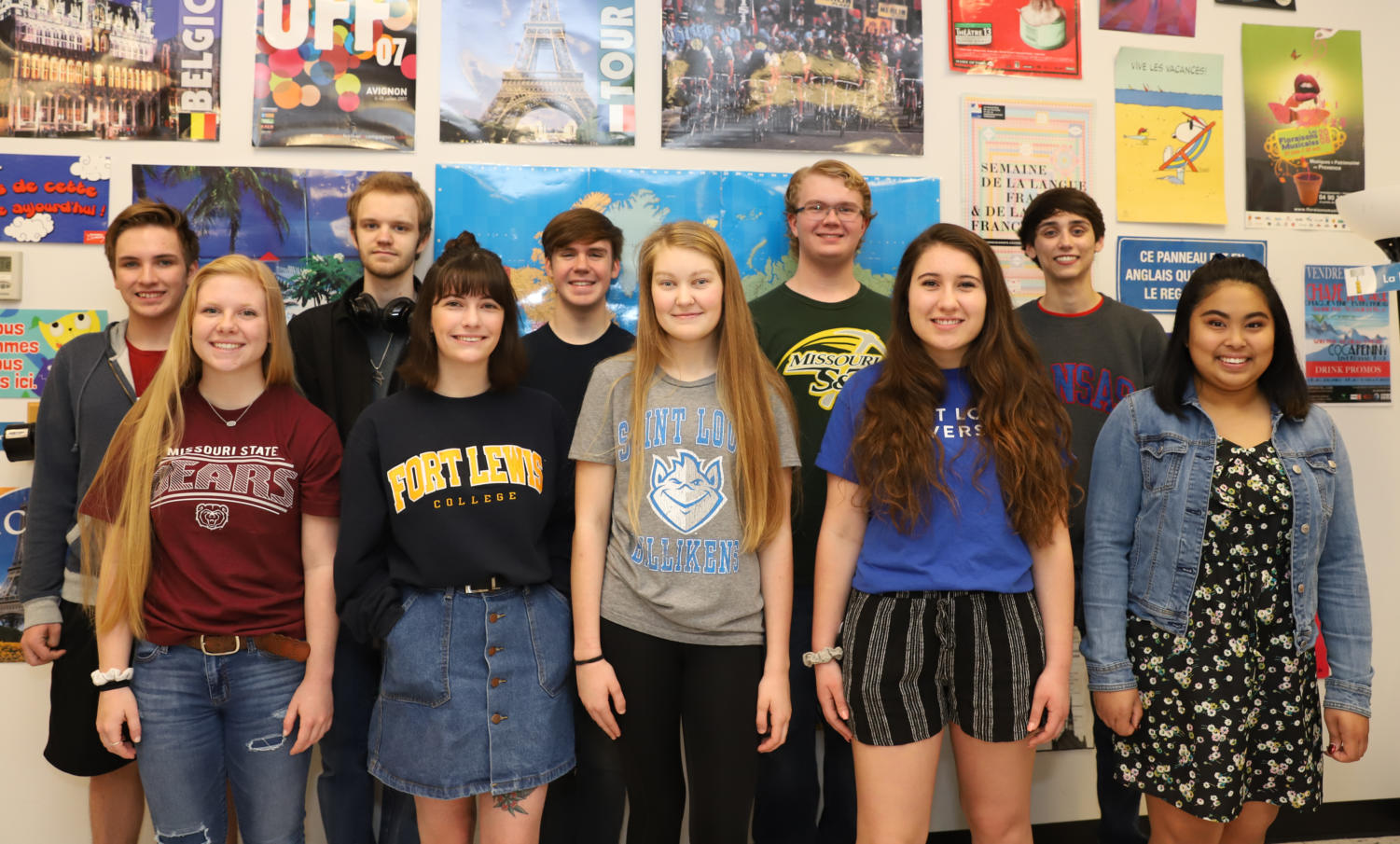 Liberty celebrates (back row left to right) Devin Eckardt, Ian Beardslee, Luke Carter, Mitchell Sanderson, Ryley Pickering (front row left to right) Jenna Woodside, Paityn Schlosser, Sylvia Young, Greta Rompel and Chasteanne Salvosa for earning Seals in Biliteracy.