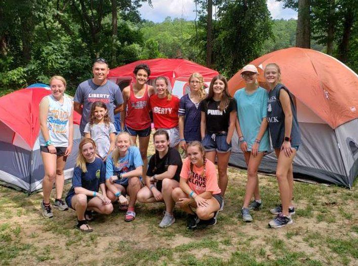 Cross country coach Glavin took 11 runners to Joe Bill Dixon's running camp this summer.