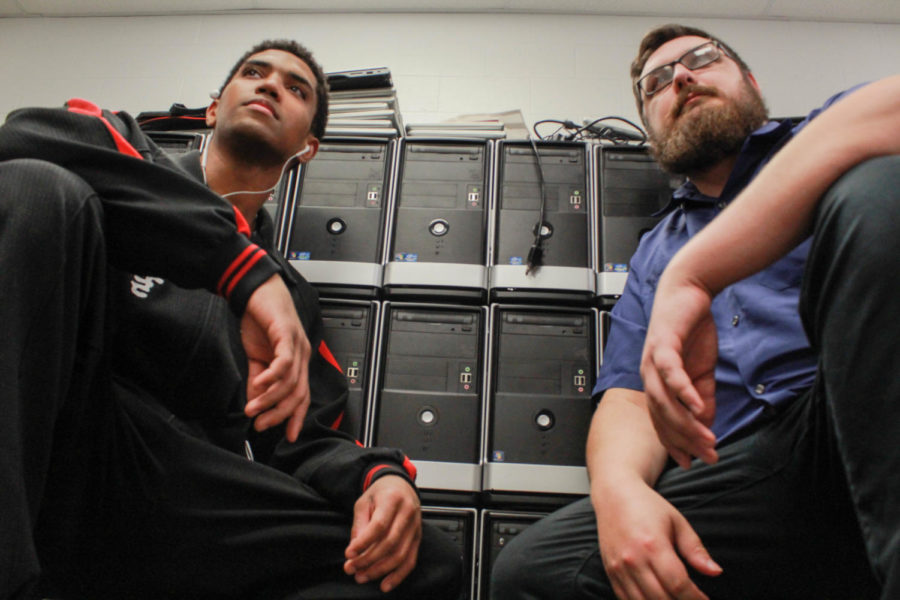 Jesse Graf and Daniel Rivera pose together like they are on the cover of a 90's rap album.