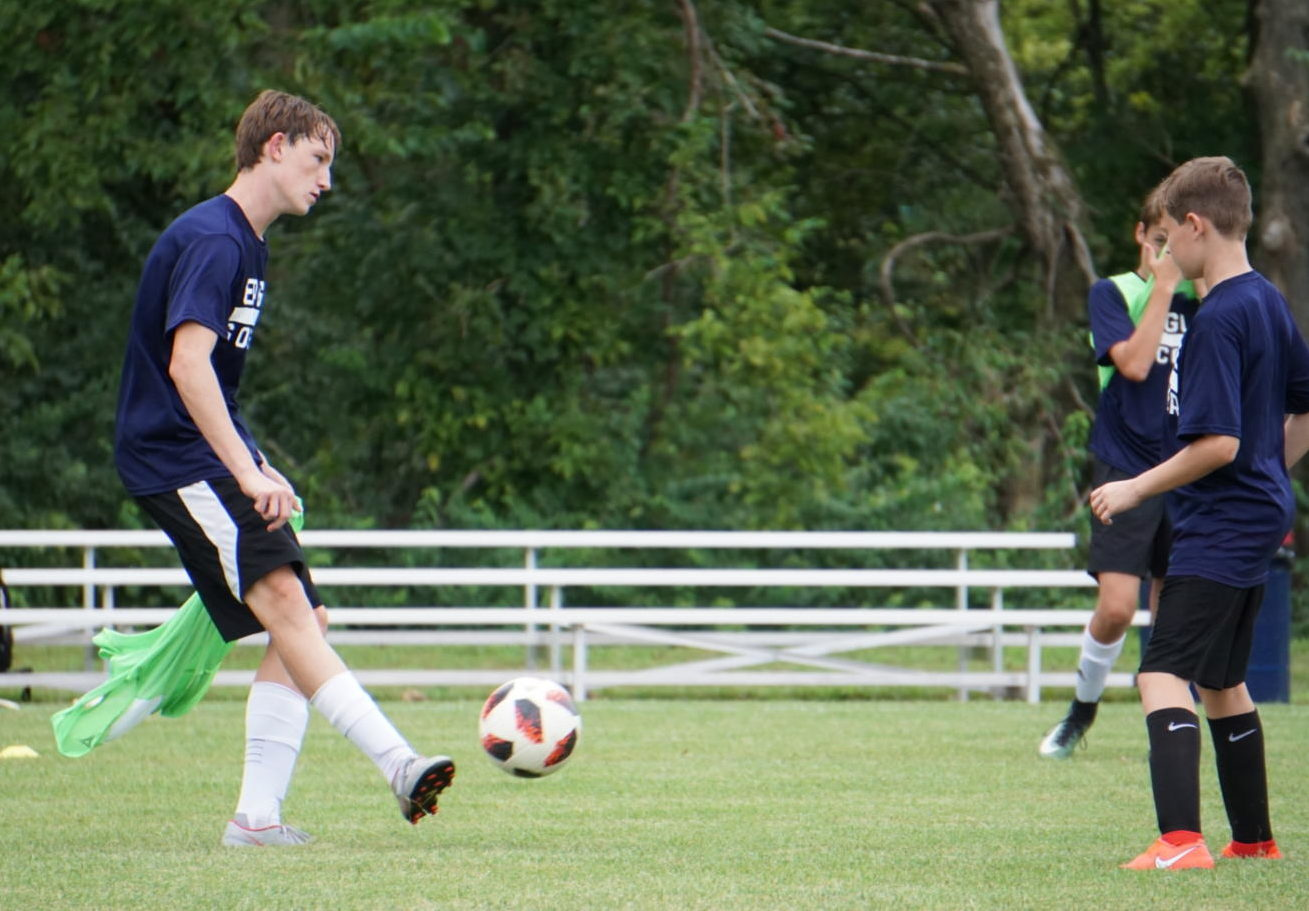"""Charles Hebden enjoys the many benefits of playing soccer.  """"Having to play with friends, and having the chance to get a scholarship,"""" Hebden said. Both are of great importance, but that isn't all. """"I play for myself and my sister (Isabella Hebden)."""""""