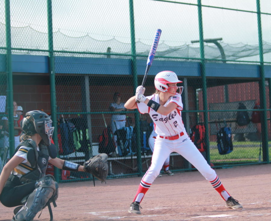 Haley Miller batting against Fort Zumwalt East.