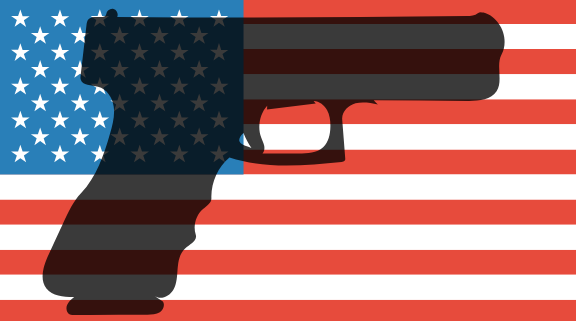 America is ranked #1 in the world for most gun violence per year.