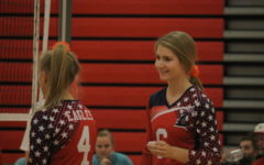 Liz Harvey plays in a game against Fort Zumwalt East on Sept. 12. She is the leader on the team with 96 kills.