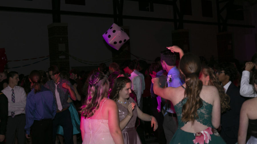 Party-goers enjoy themselves while dancing together