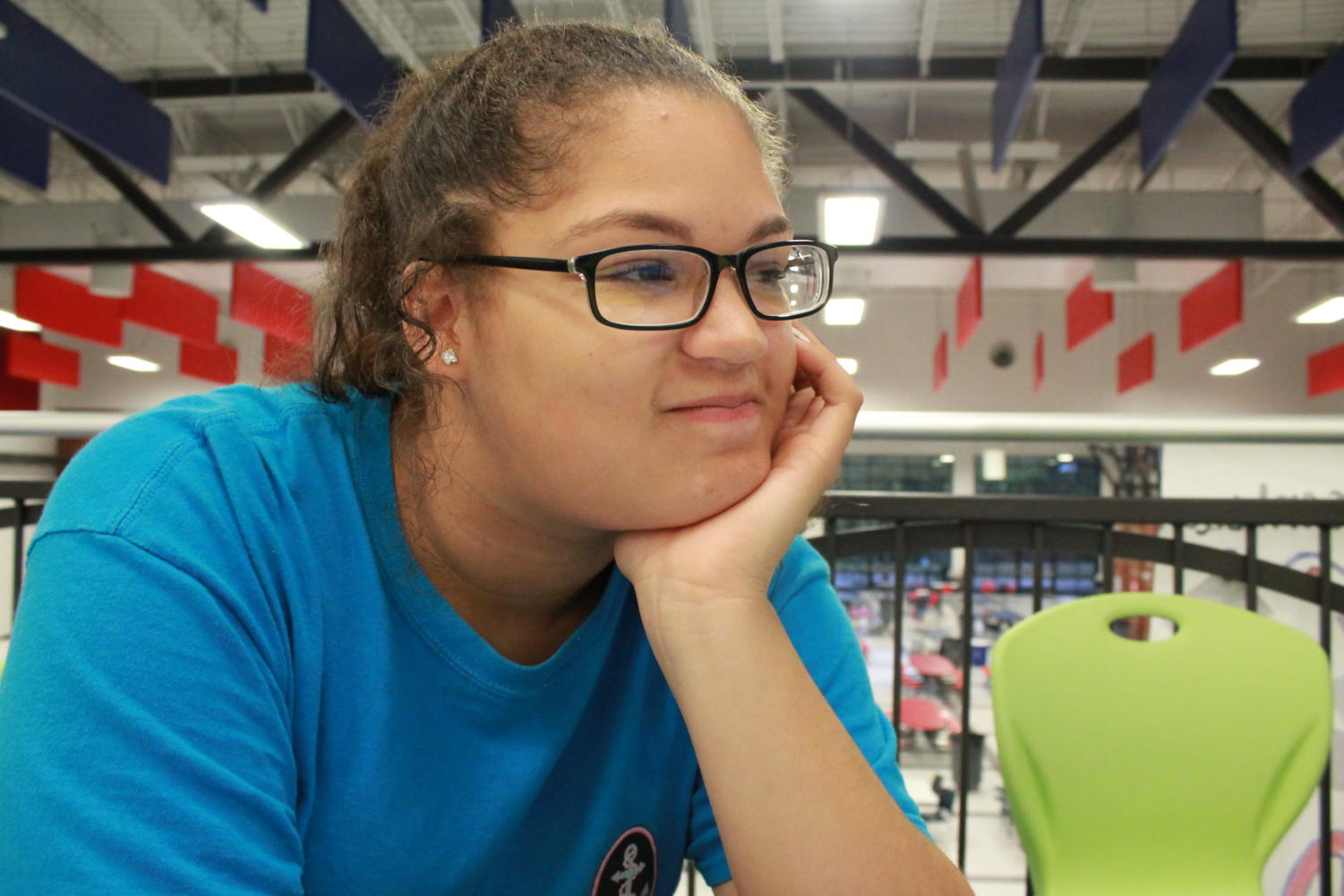 Makayla Holland thinks about everything that needs to be done for homecoming.