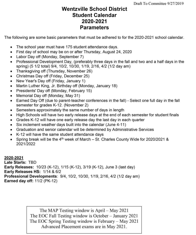 Fort Zumwalt School District Calendar 2021-2022 School Calendar For Next Year Is Released And Brings New Changes