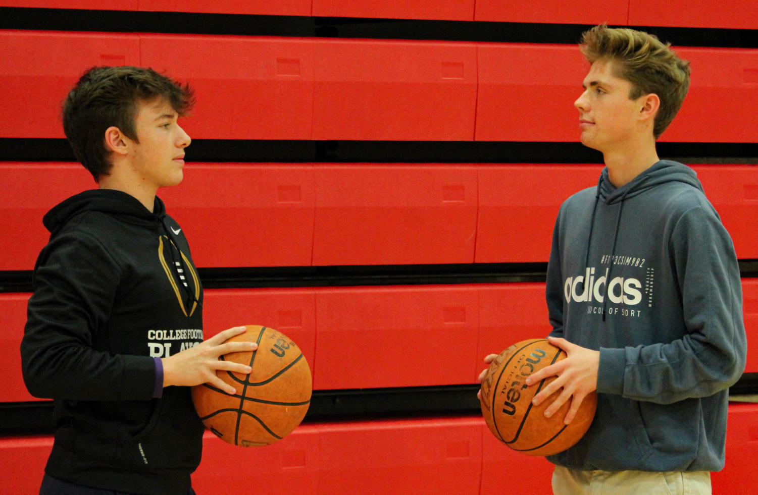Mitchell Eckardt and Chuck Schraudenbach have worked hard to plan a charity basketball tournament and are ready to see their hard work pay off.