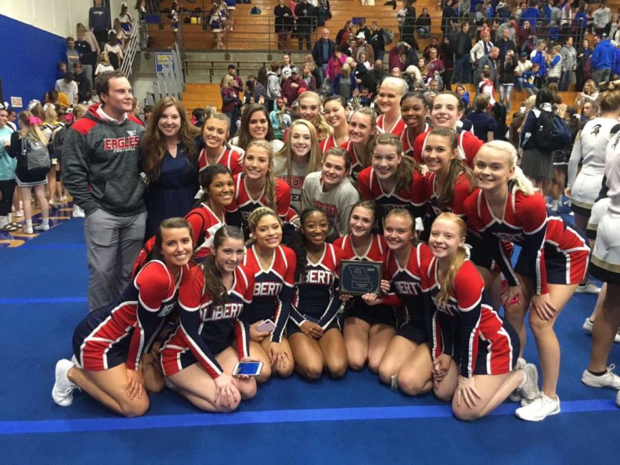 Liberty+cheerleaders+celebrate+another+regional+championship.+