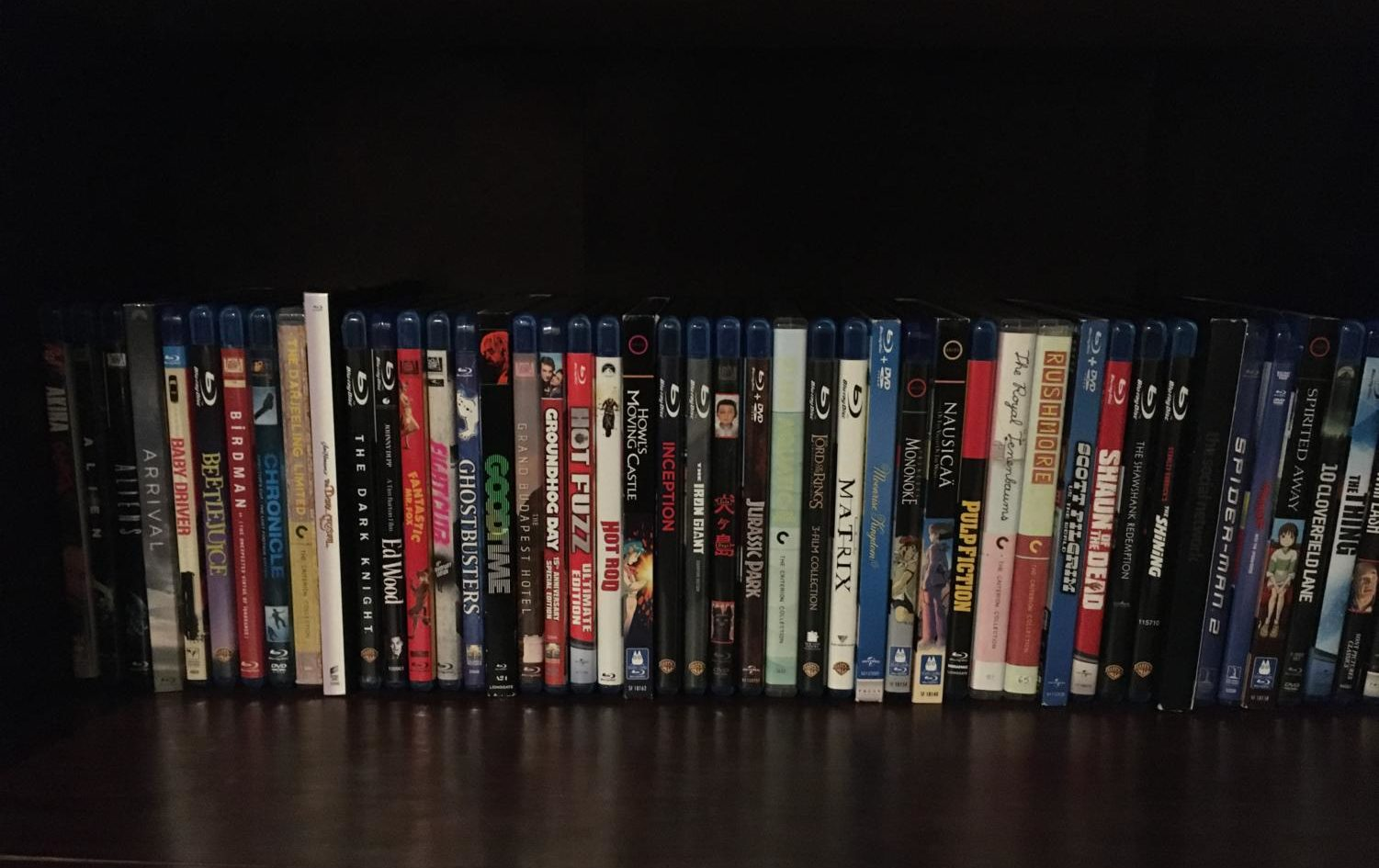 My personal collection. I have bought myself around 50 movies, a lot of them you can get cheap if you buy used.
